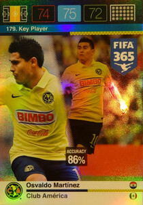 2016 FIFA 365 KEY PLAYER Osvaldo Martinez  #179
