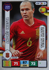 ROAD TO RUSSIA 2018 TEAM MATE HISZPANIA INIESTA 12