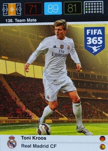 2016 FIFA 365 TEAM MATE REAL MADRID CF Toni Kroos #138