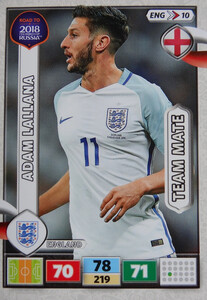 ROAD TO RUSSIA 2018 TEAM MATE ENGLAND ANGLIA LALLANA 10