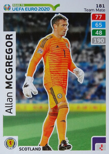 ROAD TO EURO 2020 TEAM MATE Allan McGregor 181