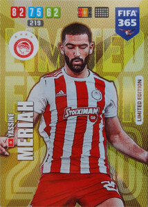 2020 FIFA 365 LIMITED EDITION OLYMPIACOS Yassine Meriah
