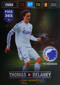 FIFA 365 2017 FANS FAVOURITE - Nordic -Thomas Delaney  #53