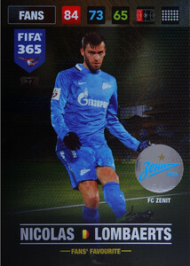 FIFA 365 2017 FANS FAVOURITE - Nordic Nicolas Lombaerts #77