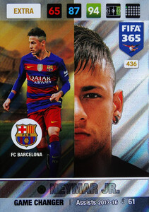 FIFA 365 2017 EXTRA GAME CHANGER Neymar Jr #436