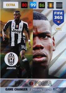 FIFA 365 2017 EXTRA GAME CHANGER Paul Pogba #440