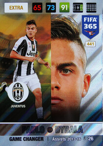 FIFA 365 2017 EXTRA GAME CHANGER Paulo Dybala #441
