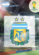 WORLD CUP BRASIL 2014 CLUB BADGE LOGO Argentina #7