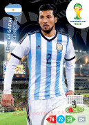 WORLD CUP BRASIL 2014 TEAM MATE Ezequiel Garay #10