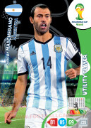 WORLD CUP BRASIL 2014 UTILITY PLAYER Javier Mascherano #12