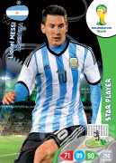 WORLD CUP BRASIL 2014 STAR PLAYER 	Lionel Messi #18