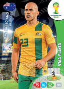 WORLD CUP BRASIL 2014 STAR PLAYER Mark Bresciano #22