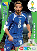 WORLD CUP BRASIL 2014 ONE TO WATCH Miralem Pjanić  #43