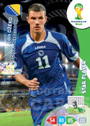 WORLD CUP BRASIL 2014 STAR PLAYER 	Edin Džeko #44