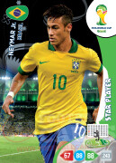 WORLD CUP BRASIL 2014 STAR PLAYER Neymar Jr. #60