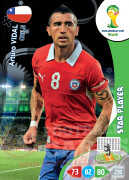 WORLD CUP BRASIL 2014 STAR PLAYER Arturo Vidal #72