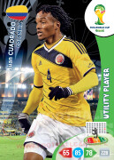 WORLD CUP BRASIL 2014 UTILITY PLAYER Juan Cuadrado #83