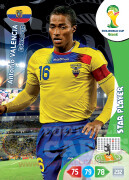 WORLD CUP BRASIL 2014 STAR PLAYER Antonio Valencia #122