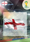 WORLD CUP BRASIL 2014 CLUB BADGE LOGO England #127