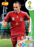 WORLD CUP BRASIL 2014 STAR PLAYER Andrés Iniesta #150