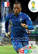 WORLD CUP BRASIL 2014 TEAM MATE Patrice Evra #159