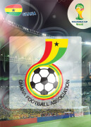WORLD CUP BRASIL 2014 CLUB BADGE LOGO Ghana #169