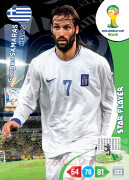 WORLD CUP BRASIL 2014 STAR PLAYER Giorgos Samaras #184
