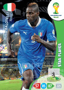 WORLD CUP BRASIL 2014 STAR PLAYER Mario Balotelli #218