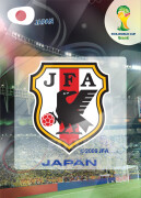 WORLD CUP BRASIL 2014 CLUB BADGE LOGO Japonia # 223