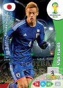 WORLD CUP BRASIL 2014 STAR PLAYER Keisuke Honda #229