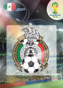 WORLD CUP BRASIL 2014 CLUB BADGE LOGO Mexico #241