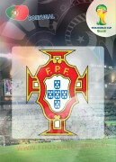 WORLD CUP BRASIL 2014 CLUB BADGE LOGO Portugalia #268