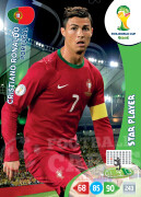 WORLD CUP BRASIL 2014 STAR PLAYER Cristiano Ronaldo #277