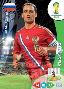 WORLD CUP BRASIL 2014 STAR PLAYER Roman Shirokov #285