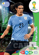 WORLD CUP BRASIL 2014 STAR PLAYER Edinson Cavani #313