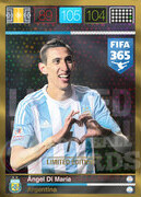 FIFA 365 2016 Panini Adrenalyn XL LIMITED Di Maria