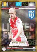 FIFA 365 2016 Panini Adrenalyn XL LIMITED Klaassen