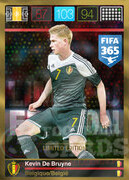 FIFA 365 2016 Panini Adrenalyn XL LIMITED De Bruyne