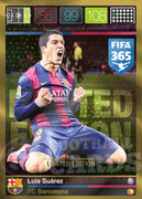 FIFA 365 2016 Panini Adrenalyn XL LIMITED Suarez