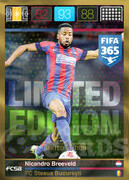 FIFA 365 2016 Panini Adrenalyn XL LIMITED Breeveld
