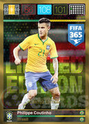 FIFA 365 2016 Panini Adrenalyn XL LIMITED Coutinho