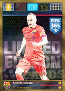 FIFA 365 2016 Panini Adrenalyn XL LIMITED Iniesta