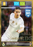 FIFA 365 2016 Panini Adrenalyn XL LIMITED Rodriguez