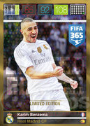 FIFA 365 2016 Panini Adrenalyn XL LIMITED Benzema