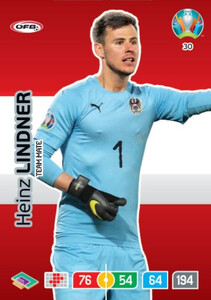 EURO 2020 TEAM MATE Heinz Lindner #30
