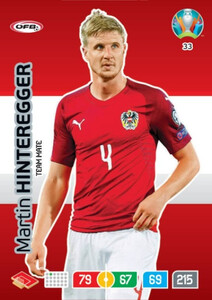 EURO 2020 TEAM MATE Martin Hinteregger #33