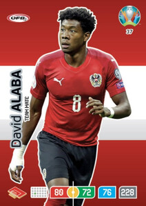 EURO 2020 TEAM MATE David Alaba #37