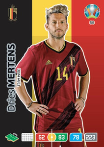 EURO 2020 TEAM MATE Dries Mertens #58