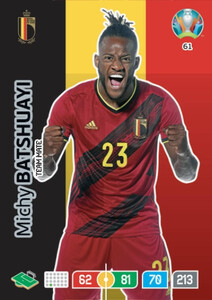 EURO 2020 TEAM MATE Michy Batshuayi #61
