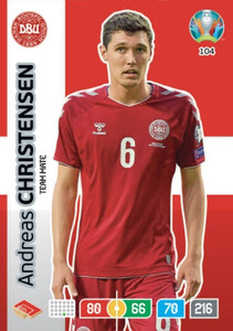 EURO 2020 TEAM MATE Andreas Christensen #104